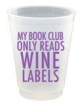 Book Club plastic cups