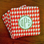 Custom Personalized Holiday Coasters -  set of 4