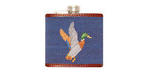 Smathers and Branson Needlepoint Mallard Flask