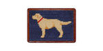 Smathers and Branson Needlepoint Yellow Lab Card Wallet