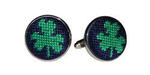 Smathers and Branson Needlepoint Clover Cufflinks