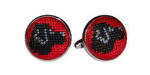 Smathers and Branson Needlepoint Black Lab Cufflinks