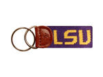 LSU Needlepoint Key Fob