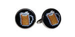Smathers and Branson Needlepoint Beer Mugs Cufflinks