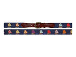 Smathers and Branson Rainbow Fleet (Navy) Needlepoint Belt