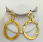 Handcast Double Gold Earrings