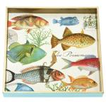 Tropical Fish Square Decoupage Wooden Tray