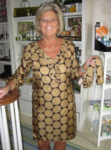 Black and Gold Polka Dot Silk Dress Final Sale - No Returns