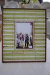 Green and White Wooden Frame