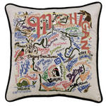Catstudio Embroidered Pillow - Michigan