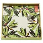 Olive Grove Decoupage Square Tray