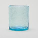 Bubble Glass Double Old Fashioned-Aqua
