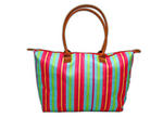 Large Bellemonde Fold Up Travel Tote - Stripe
