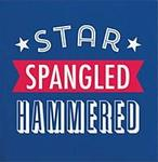 Star Spangled Hammered beverage napkin