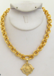 Handcast Gold Turtle Necklace