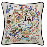 Catstudio Embroidered Pillow - Texas